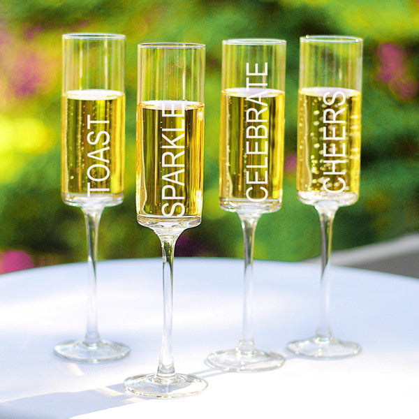 Celebrate! Contemporary Champagne Flutes