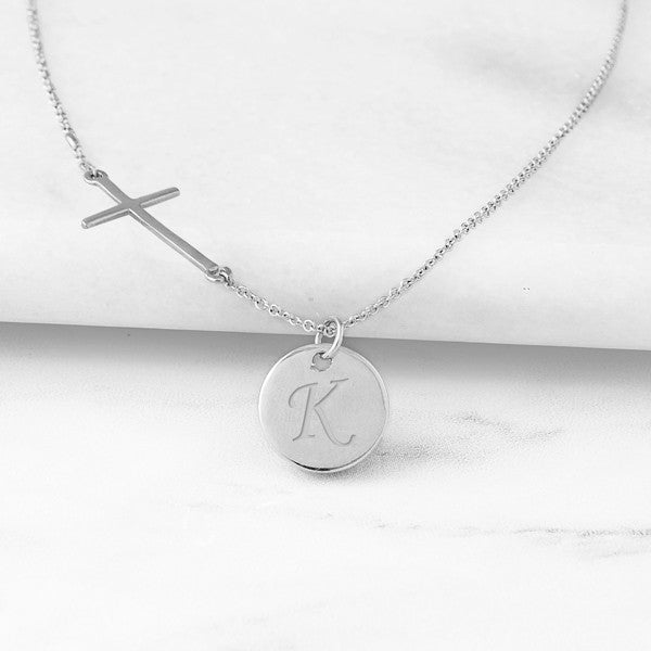 personalized bridesmaid gift - cross necklace