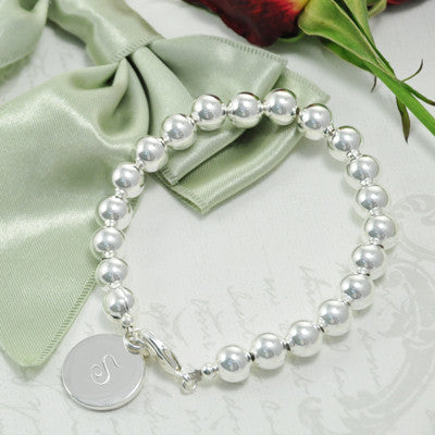 Beads of Silver Bridesmaid Bracelet