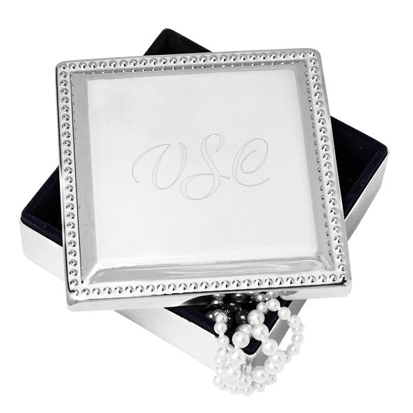Personalized Silver-tone Jewelry Box
