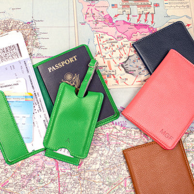 Leather Passport Holder & Luggage Tag Set