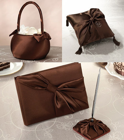 Chocolate Brown Satin Wedding Collection