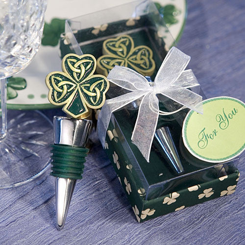 Shamrock/Trinity Love Knot Bottle Stopper Favor