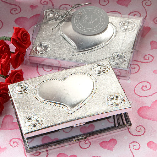 Heart Design Compact Favor