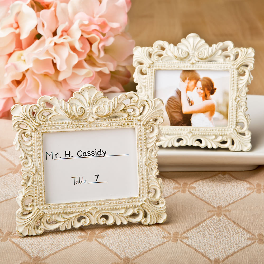 Vintage Baroque Design Place Card Holder/Picture Frame