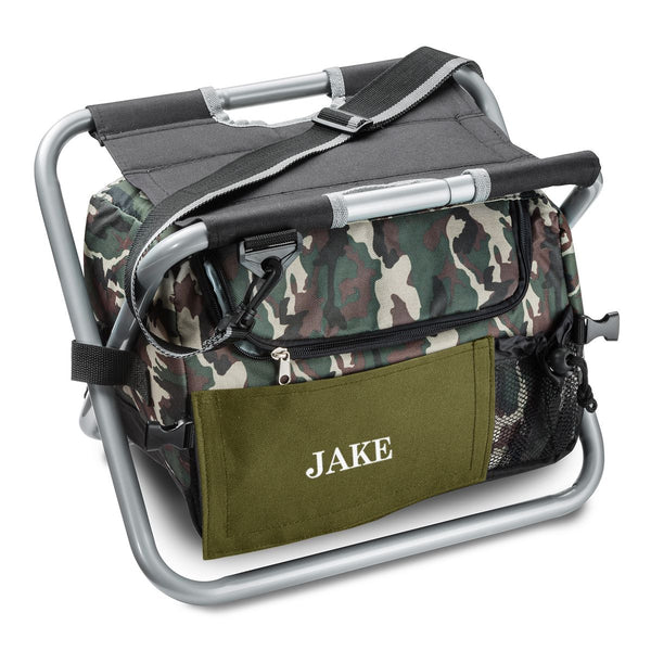 Camo Sit 'N Sip Cooler with Colored Patch