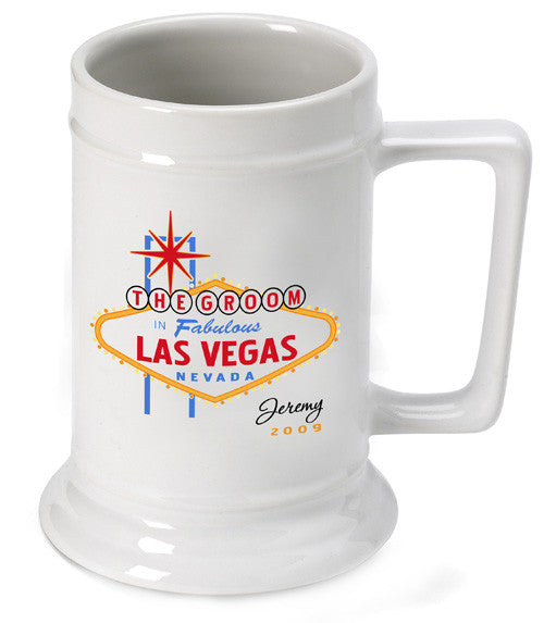 Vegas Wedding Party Beer Stein