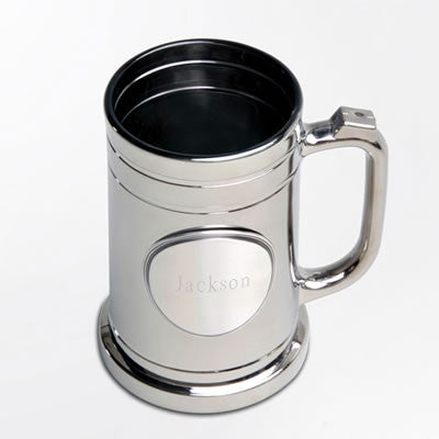 Gunmetal Mug with Pewter Medallion