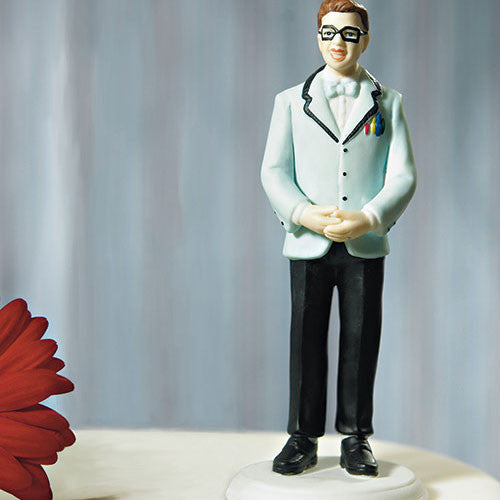 Mix & Match Geek Groom Wedding Cake Top
