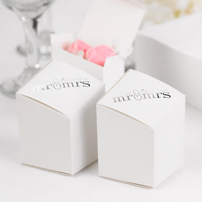 Mr. & Mrs. Prism Favor Boxes