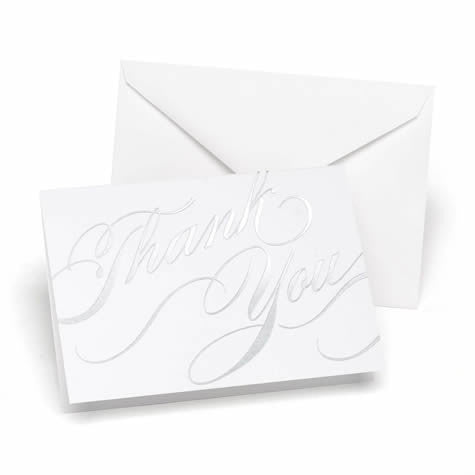 Silver Unending Gratitude Weddings Thank You Cards