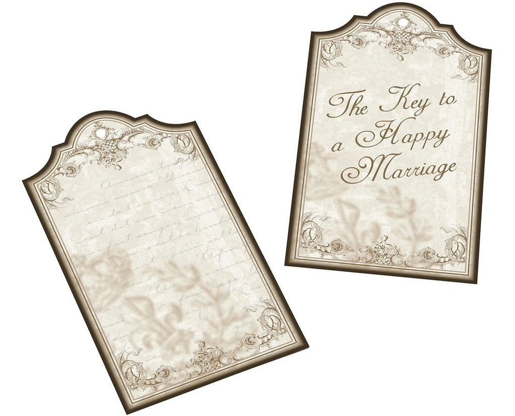 Key to a Happy Marriage Tags (Set of 24)