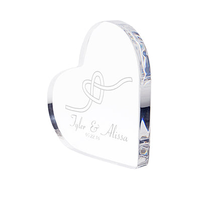 Tie the Knot Acrylic Heart Cake Top