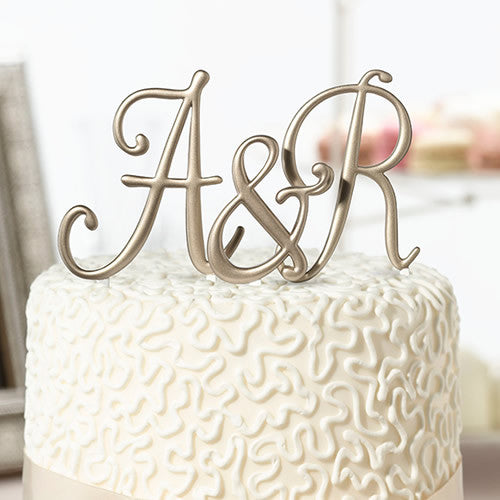 Gold Monogram Cake Top Letters