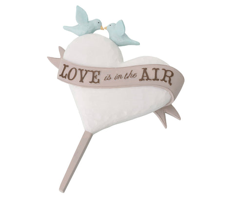 Love Is In The Air Wedding Cake Pick