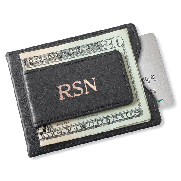 Leather Magnetic Wallet & Money Clip