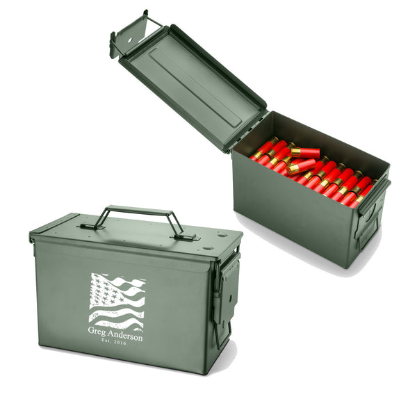 Personalized Metal Ammunition Box