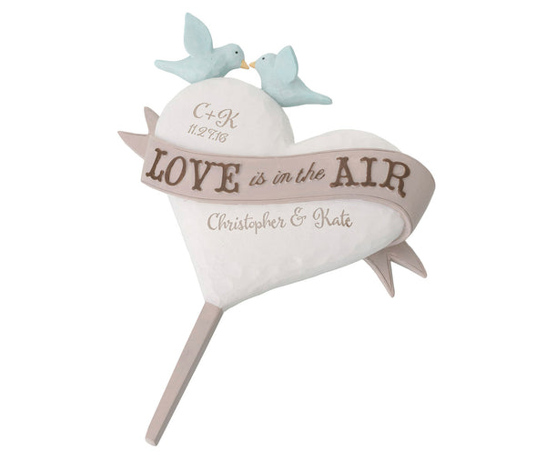 Love Is In The Air Personalized Caketop
