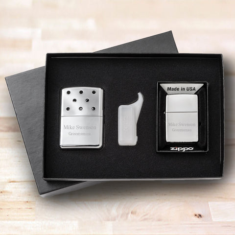 Zippo Hand Warmer and Lighter Gift Set