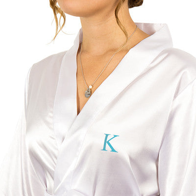 Satin Robe and Necklace Set