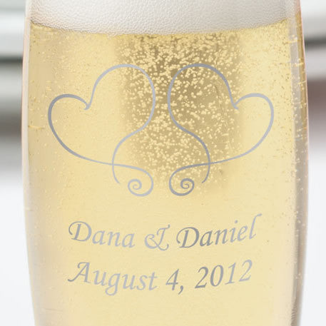 Stemless Printed Wedding Flute Favors
