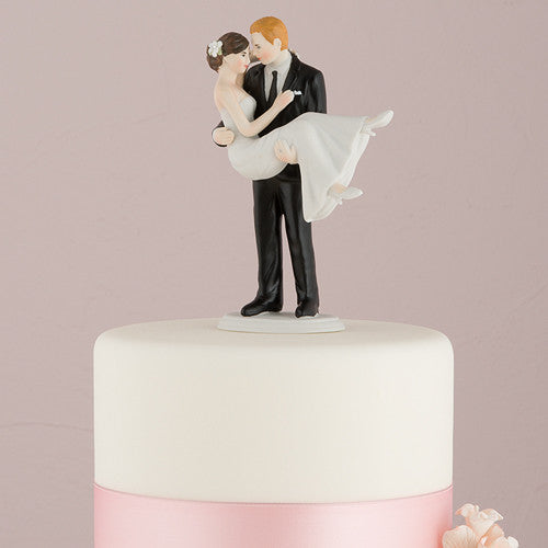 Swept Up in His Arms Wedding Cake Top