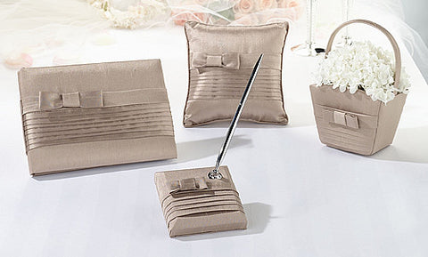 Taupe Pleated Wedding Collection