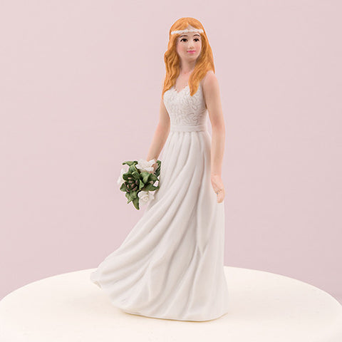 Mix & Match Trendy Bride Wedding Cake Topper