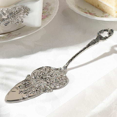 embossed wedding cake server