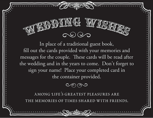 Wedding Wishes Cards - Set of 48 (Black)