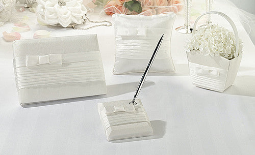 White Pleated Wedding Collection