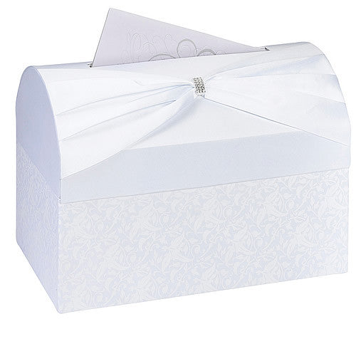Elegant Sash Wedding Card Box