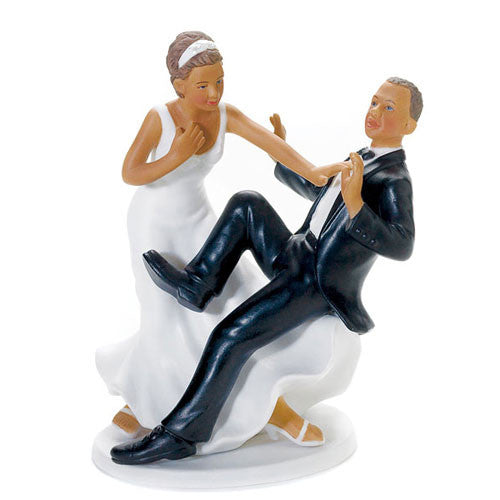 "Groom ""Taking A Plunge"" Wedding Cake Topper"