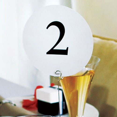 Round Wedding Table Numbers