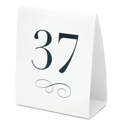 Table Number Tent Style Card