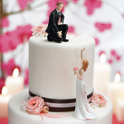 Grooms Lends a Hand Cake Top