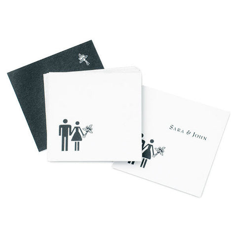 Bride & Groom Favor / Place Cards - Pack of 20