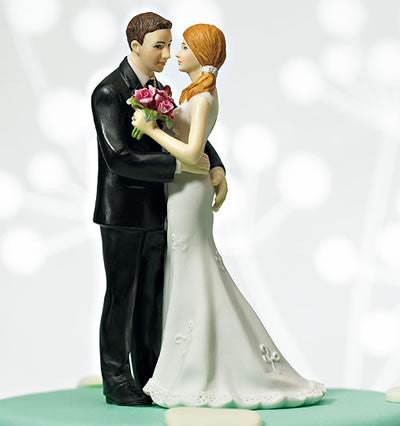 My Main Squeeze Wedding Couple Cake Topper