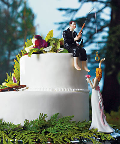 Hooked on Love Groom Figurine Cake Top