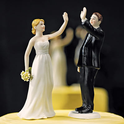 High 5 Bride and Groom Figurines