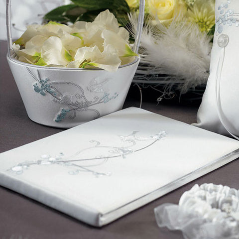 Love Bird In Classic White Guest Book