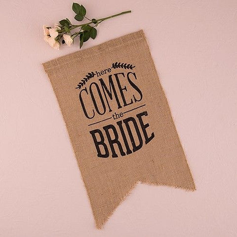 Natural Burlap Ceremony Banner
