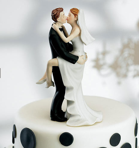 Kissing Couple Wedding Cake Top