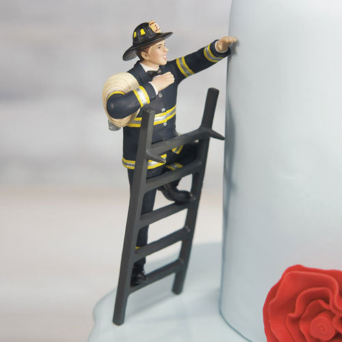 fireman wedding cake top