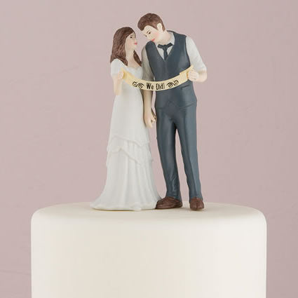 Indie Style Wedding Retro Wedding Cake Top