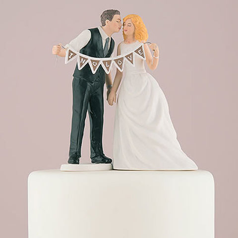 Shabby Chic Bride and Groom  Cake Topper - Sold Separately