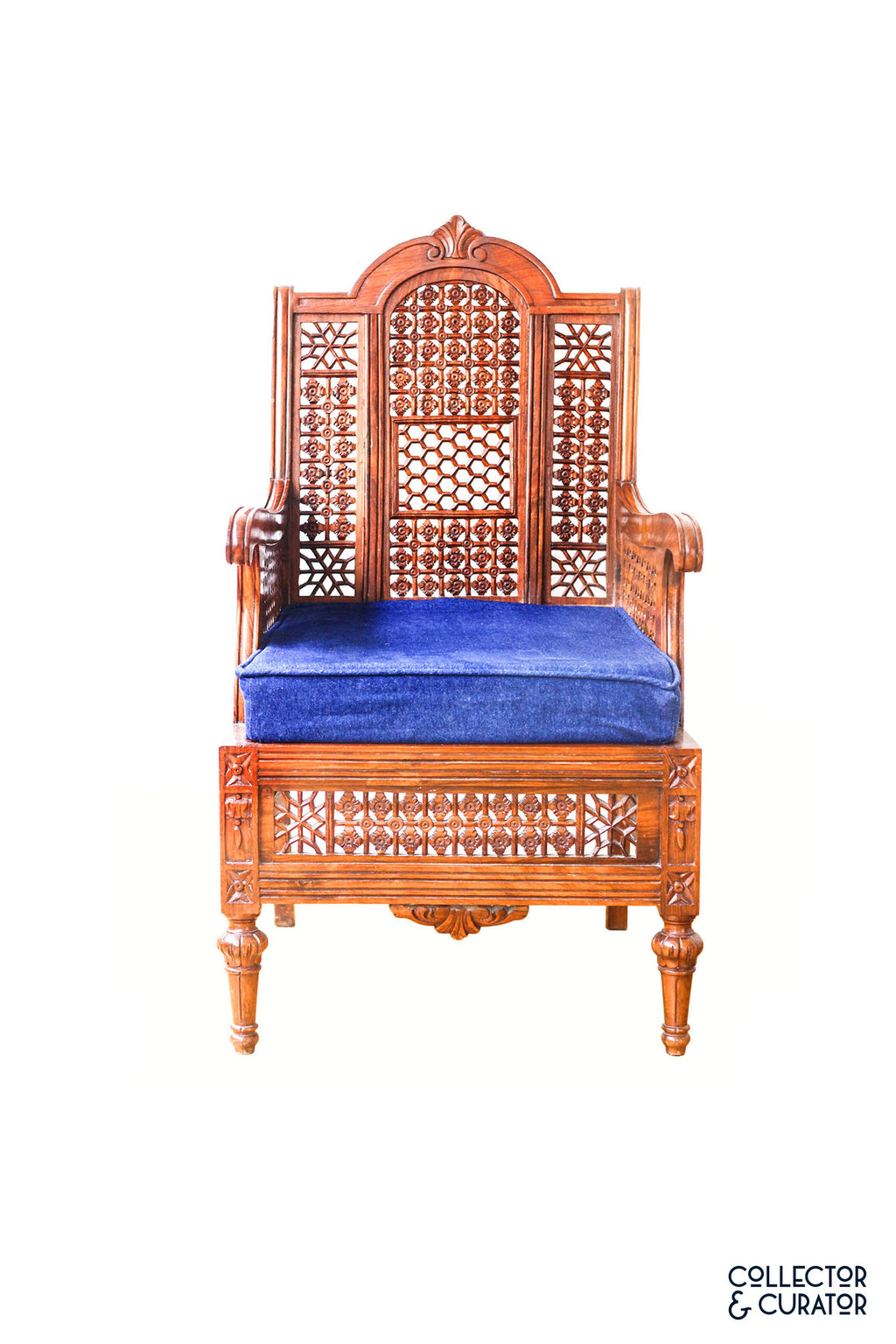 Exotic Carved wooden chair - Collector & Curator