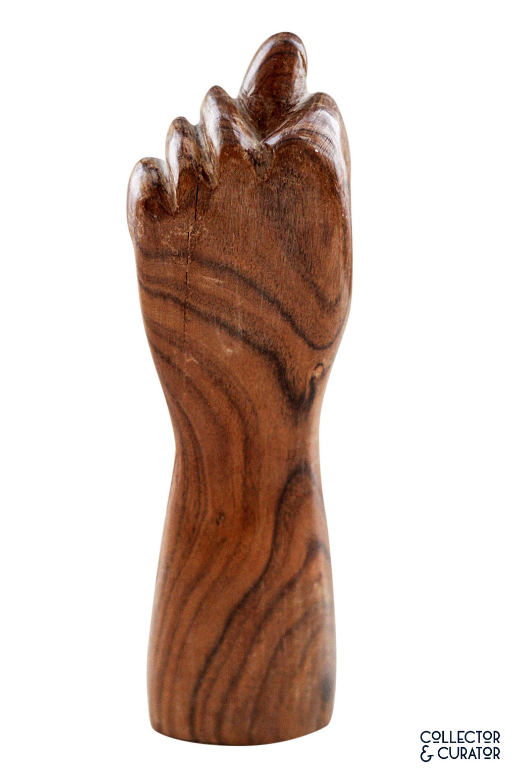 Large Hand Carved Wooden Figa - Collector & Curator