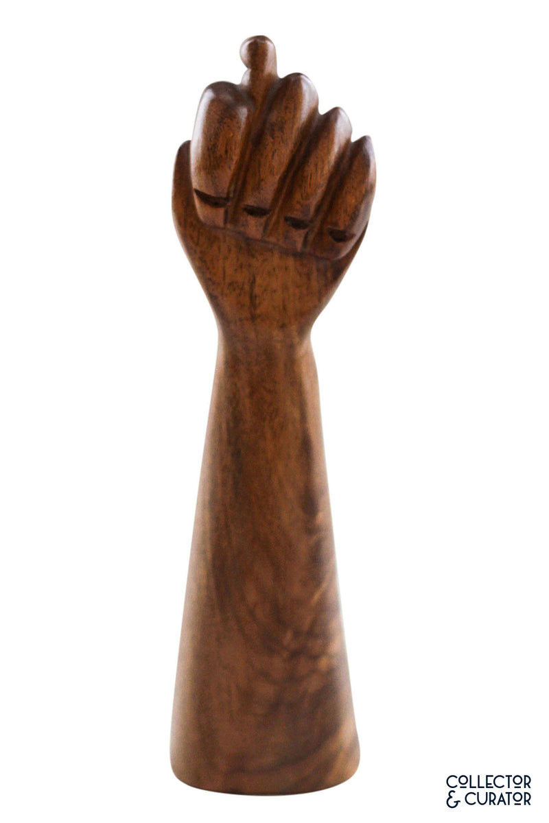 Small hand Carved wooden figa - Collector & Curator