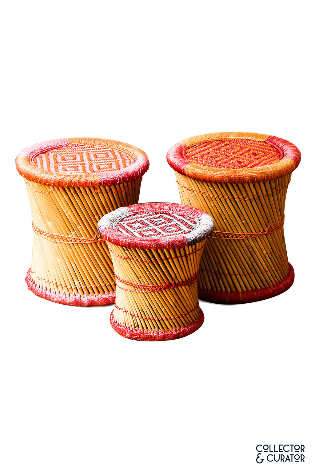 Colorful Rattan Stools - Collector & Curator